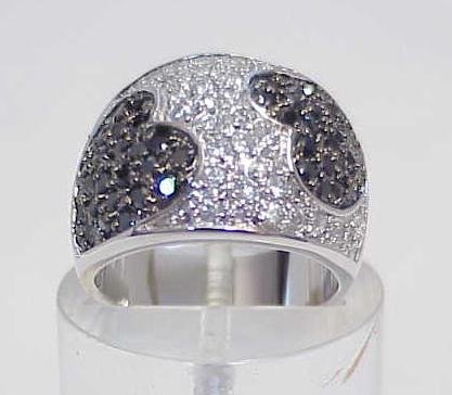 3006: STERLING SILVER PAVE CZ BAND HEART RING SIZE 7