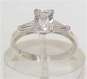 3086A: STERLING SILVER 2 CT SOLITAIRE SIM DIAMOND CZ RI