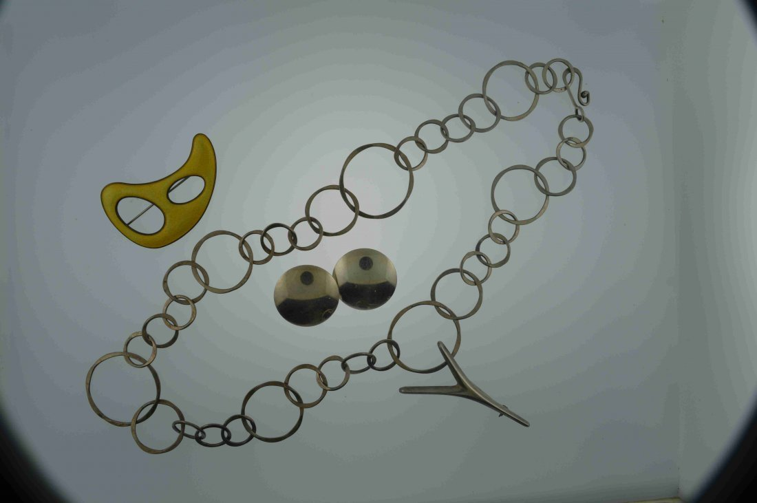 4 Pcs Lot Danish and Norweigien Sterling Silver Jewelry