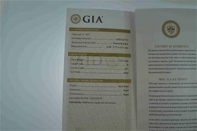 Gia Certified 1.23 ct G VS1 Round Brilliant Diamond
