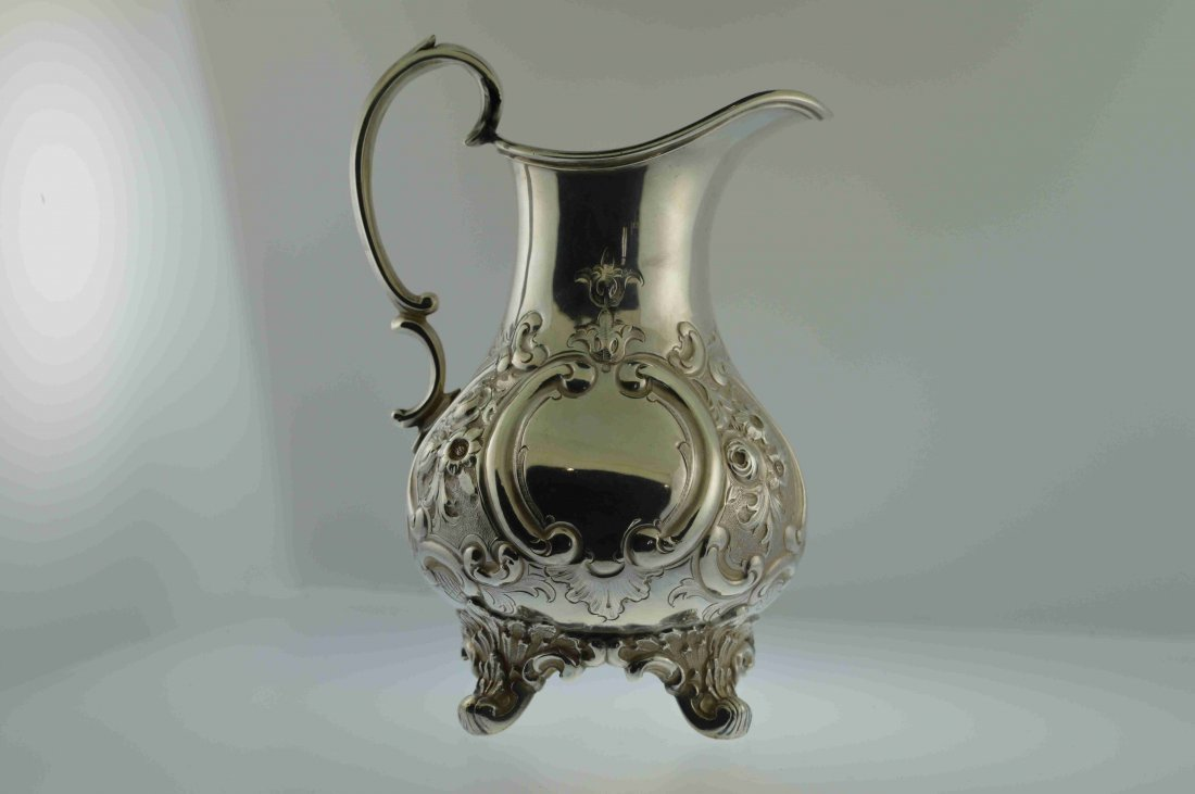 Antique English Repousse Creamer