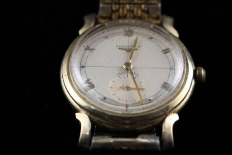 14k YG Longines Automatic Mens Wristwatch