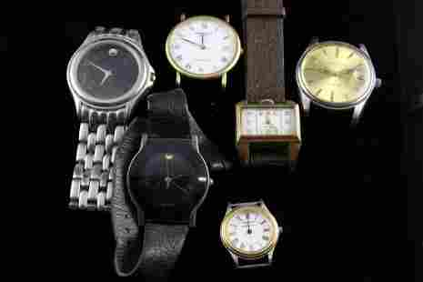 Lot of 6 Mens Watches to Include Movados Tiffany