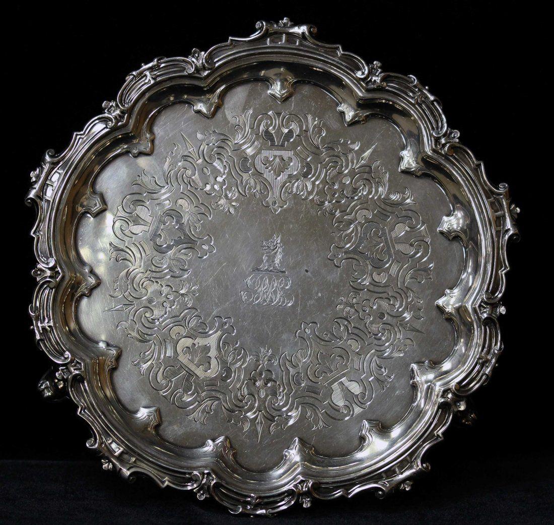 English Engraved Salver