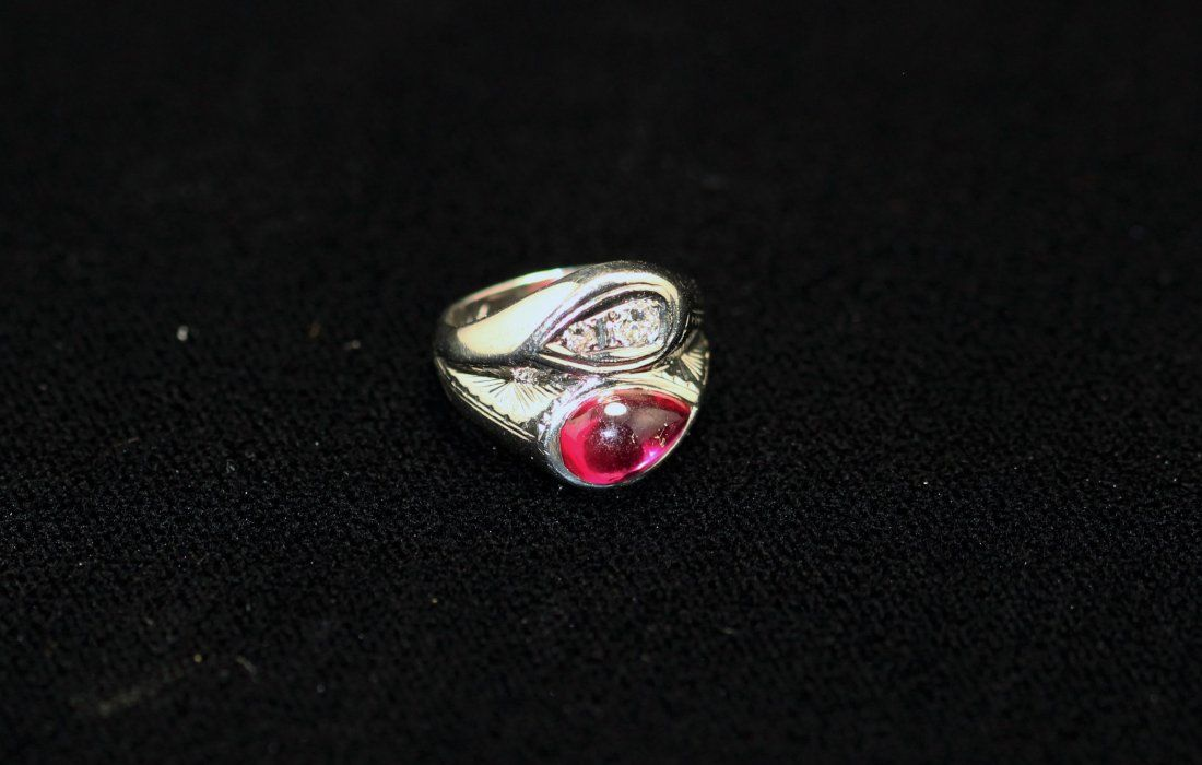 14k WG Ruby & Diamond Ring