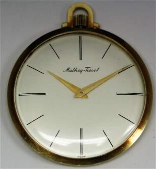 18k YG Mathey Tissot Pocket Watch