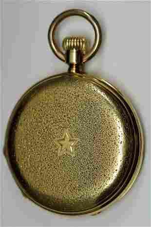 18k YG Schlesecki Stroehlein Pocket Watch