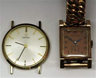 2-14k Gold Watches-Omega & Ollendorff