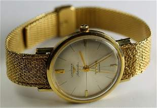 14k YG Longines Automatic Admiral Mens Wristwatch