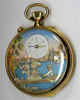 Reuge Swiss Automated Musical Pocket Watch