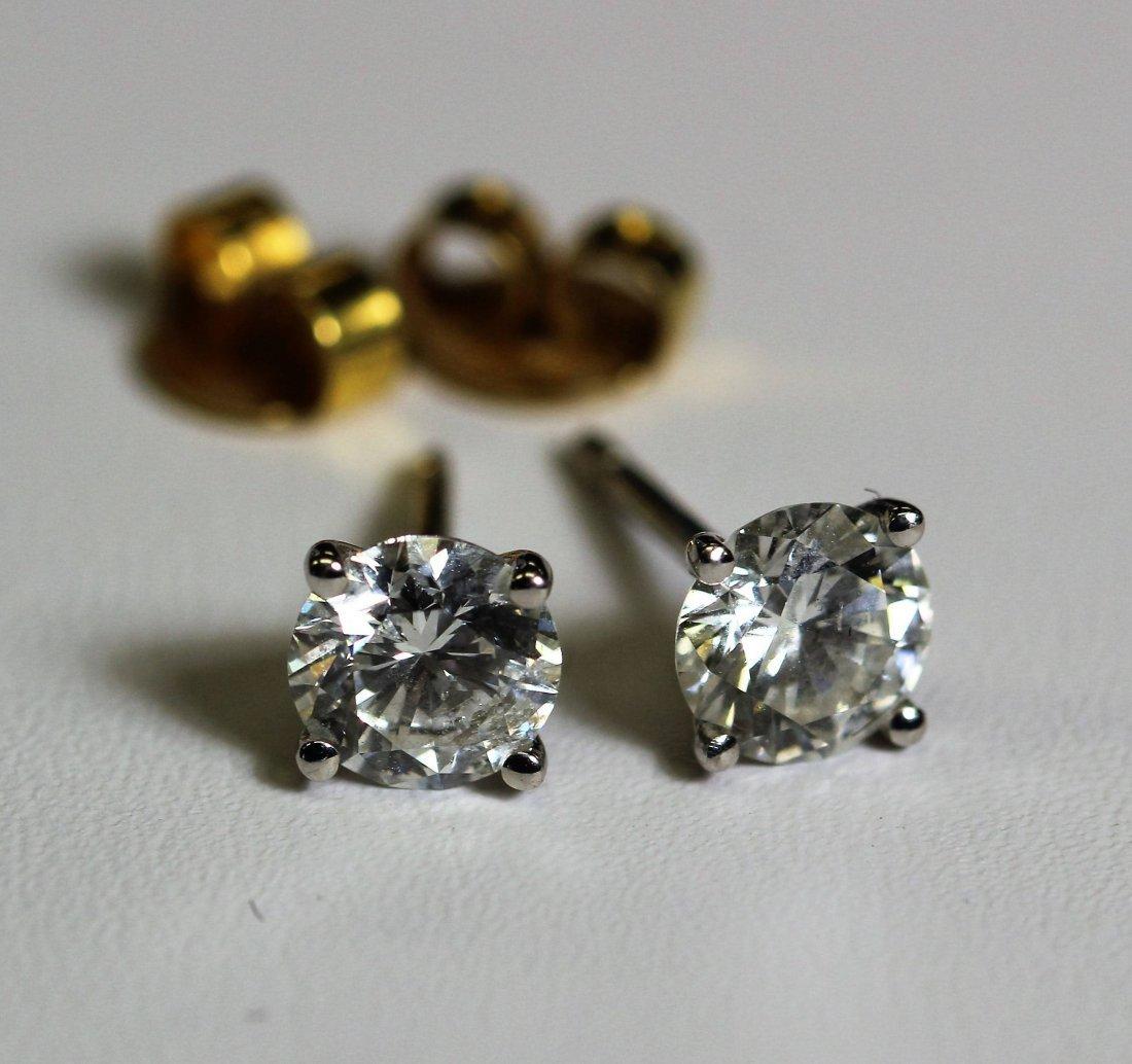 1.6 ctw 14k WG Diamond Stud Earrings