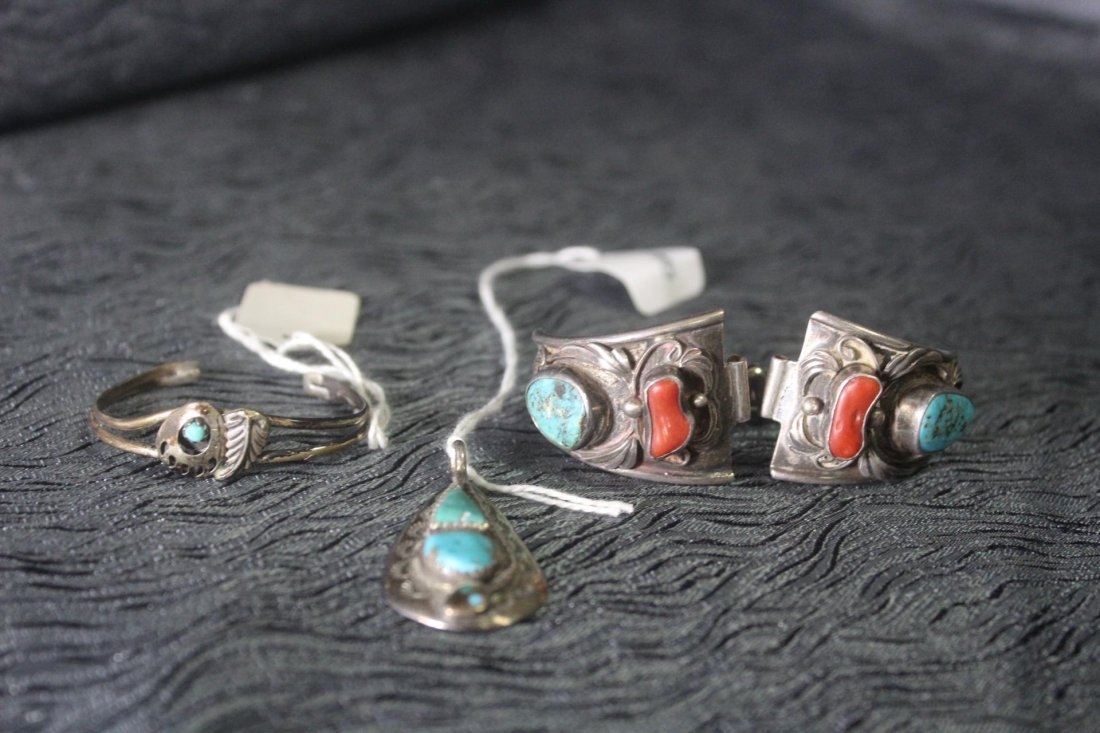 3 Pieces of Native American Silver Jewelry