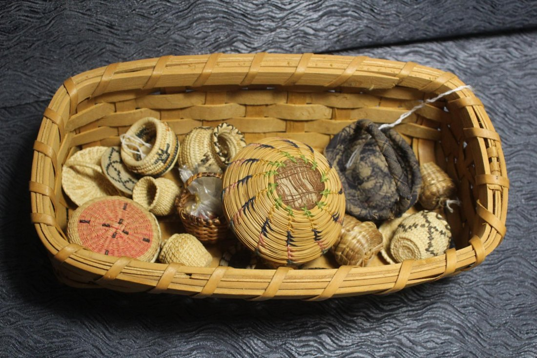 Lot of Miniature Native American Baskets