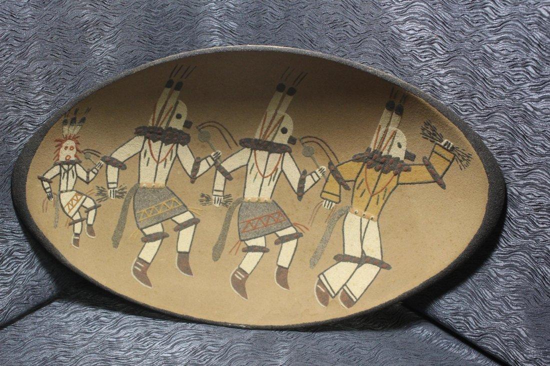 Navajo Ernest Hunt Sandpainted Bowl