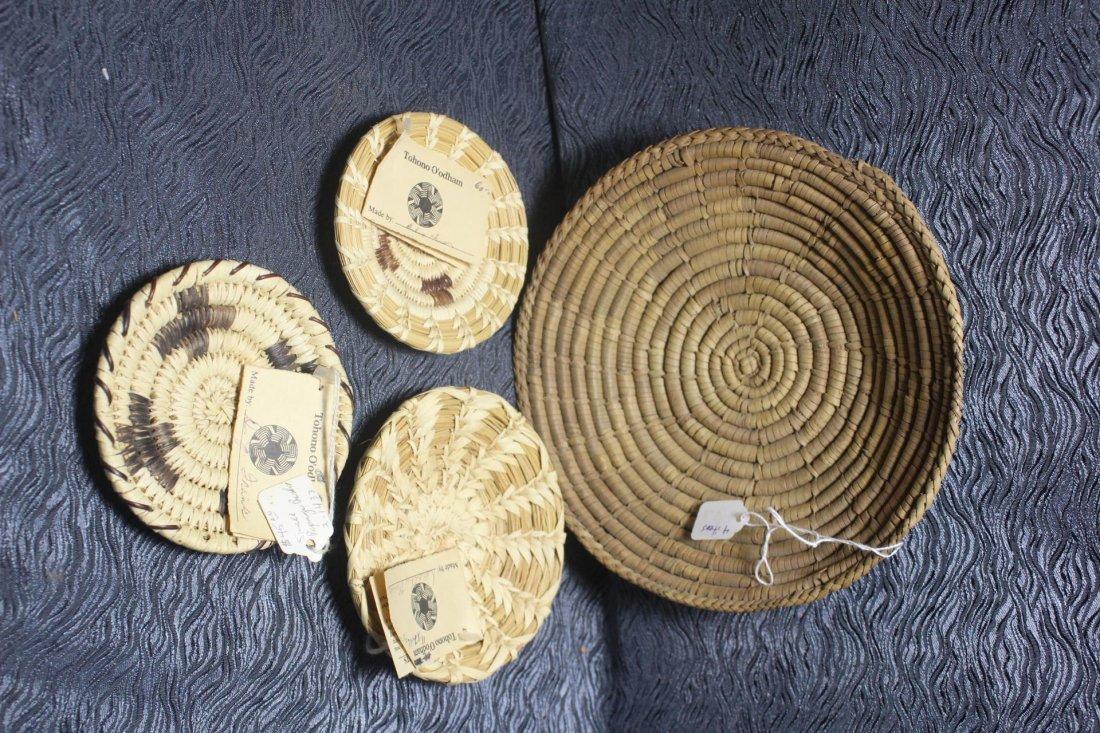 4 Native American Basket Trays