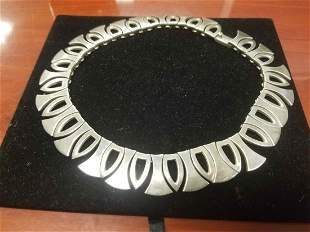 Heavy Sterling Silver Mexican Mid Century Modern