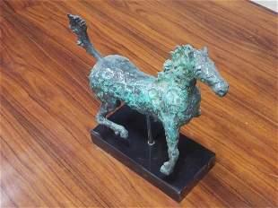 Mid Century Modern Bronze Horse Sculpture