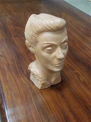 Signed Mid Century Modern Terracotta Bust Statue