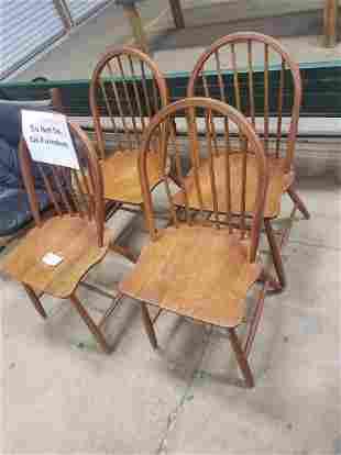 Set Of 4 Danish Mobelfabrix Hoop Back Chairs