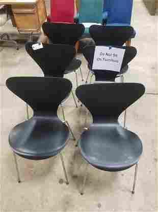 6 Fritz Hansen Series 7 Chairs