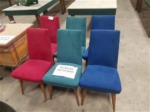 Set Of 6 Mid Century Modern Exton Chairs