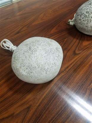 1 of 4 French rock lamp, by A. Lazenave Atelier A Paris