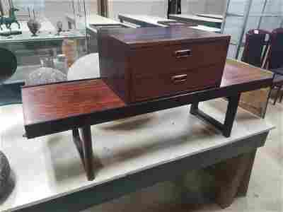 Norwegian Bruksbo Rosewood Low Bench With Drawers