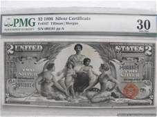 1896 $2.00 Silver Certificate Educational Note Graded