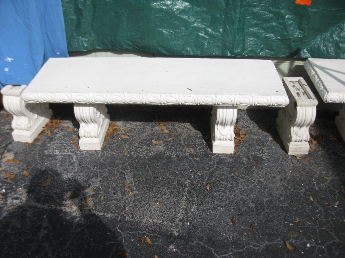 Cement Table and Cement Benches