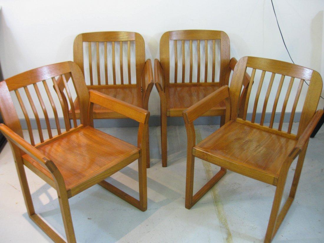 Set of 4 Mid Century Danish Teak Chairs