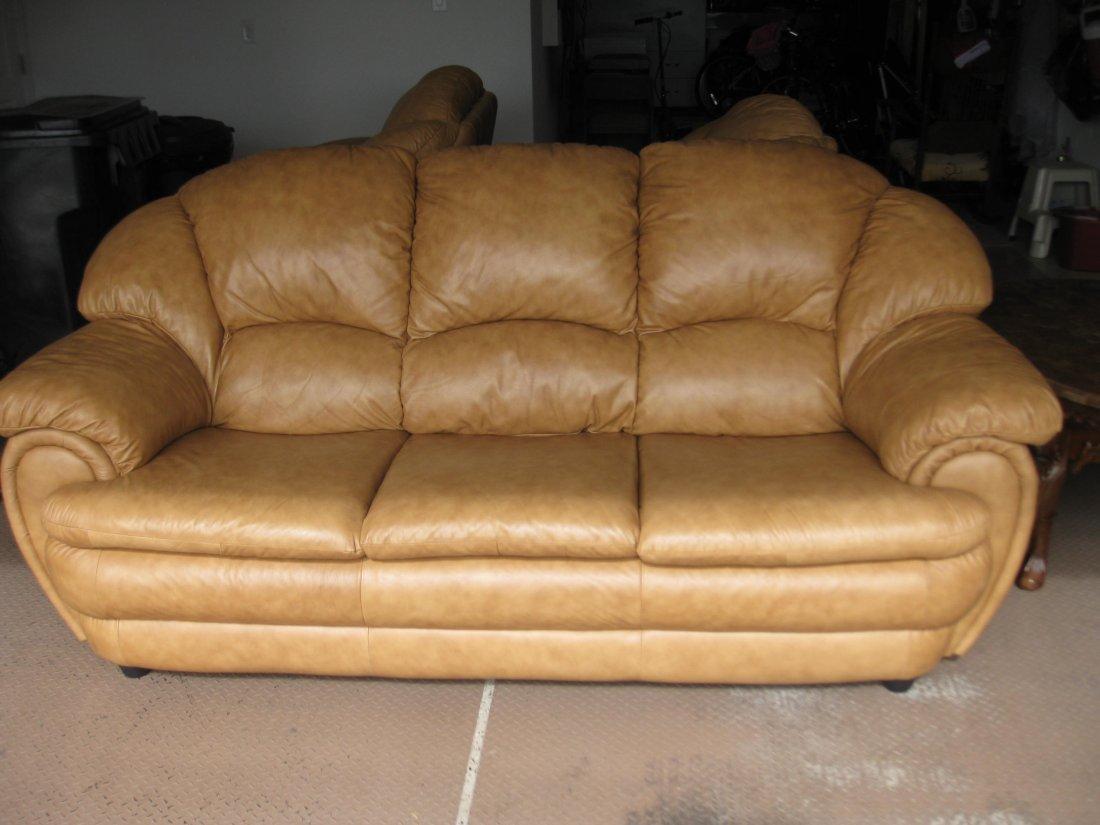 Chateau D'ax Leather Sofa