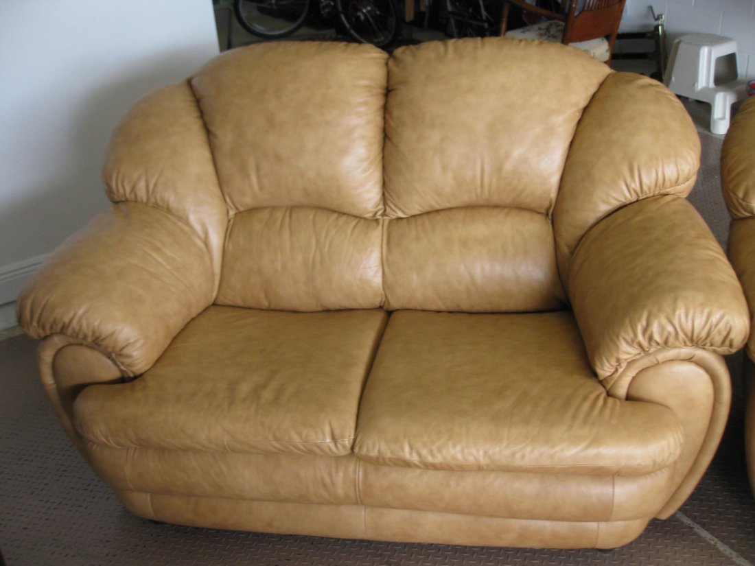 Chateau D'ax Leather Love Seat