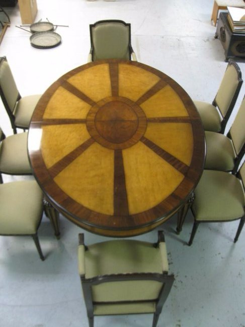 EJ Victor Dining Room Table and 8 Chairs