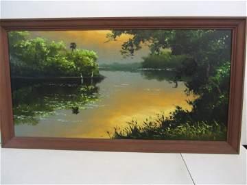 Harold Newton Highwaymen Painting Florida Landscape