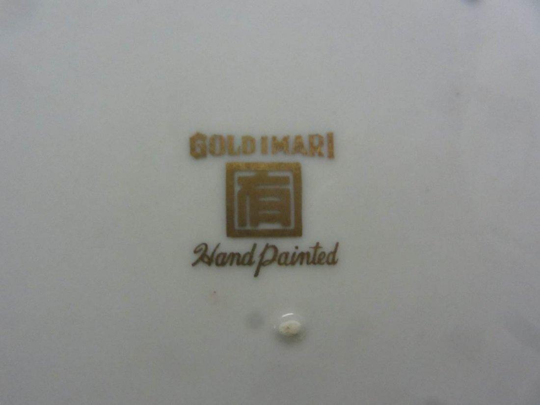 Gold Imari Hand Painted Scalloped Bowl - 4