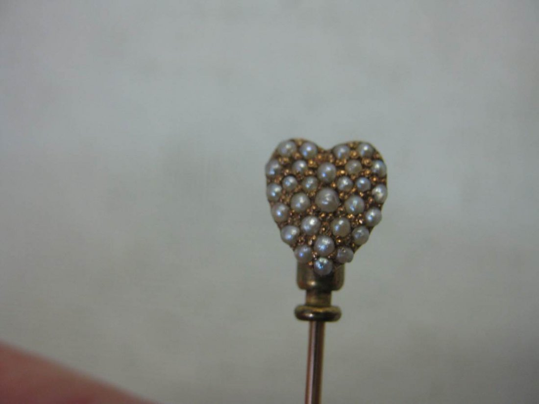 Five Gold Victorian Stick Pins - 2