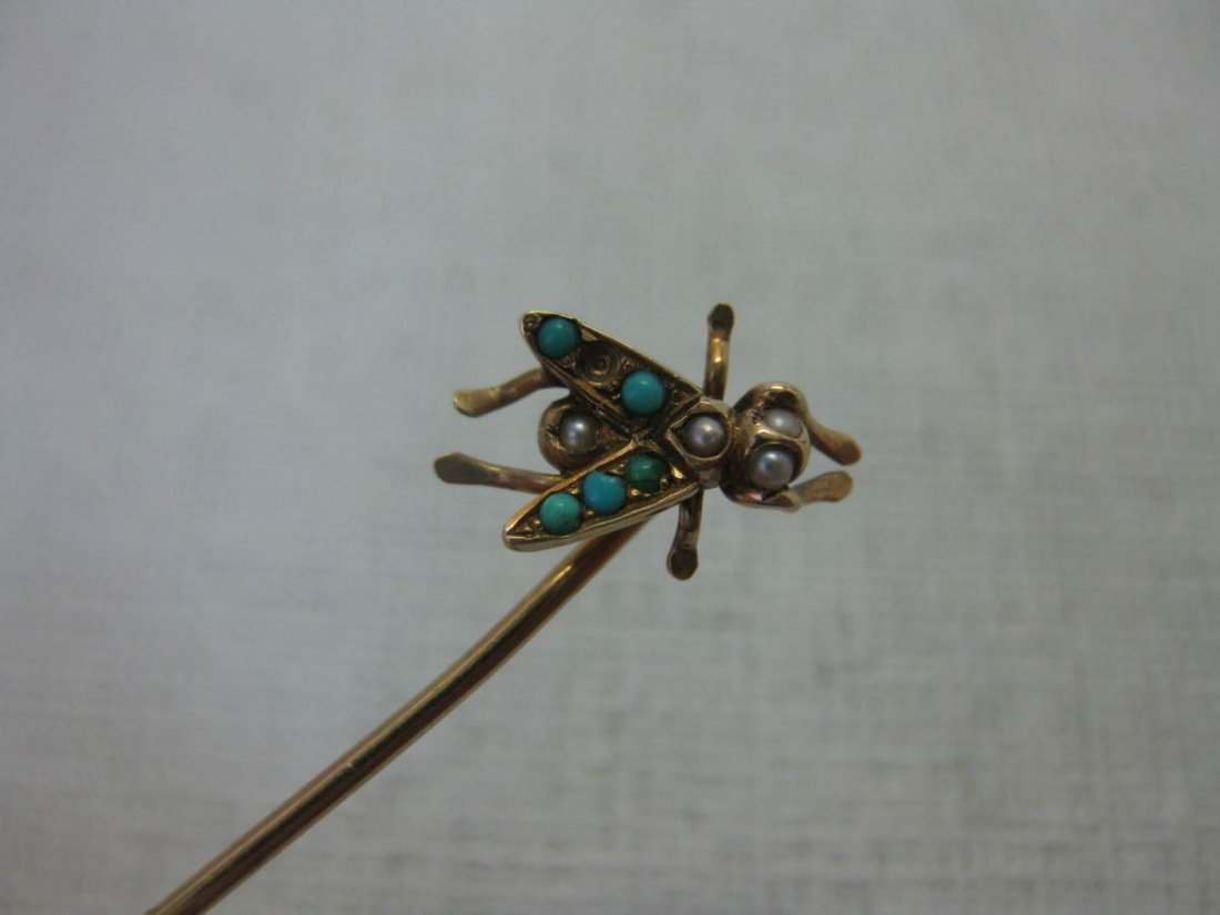 Five Gold Victorian Stick Pins - 3