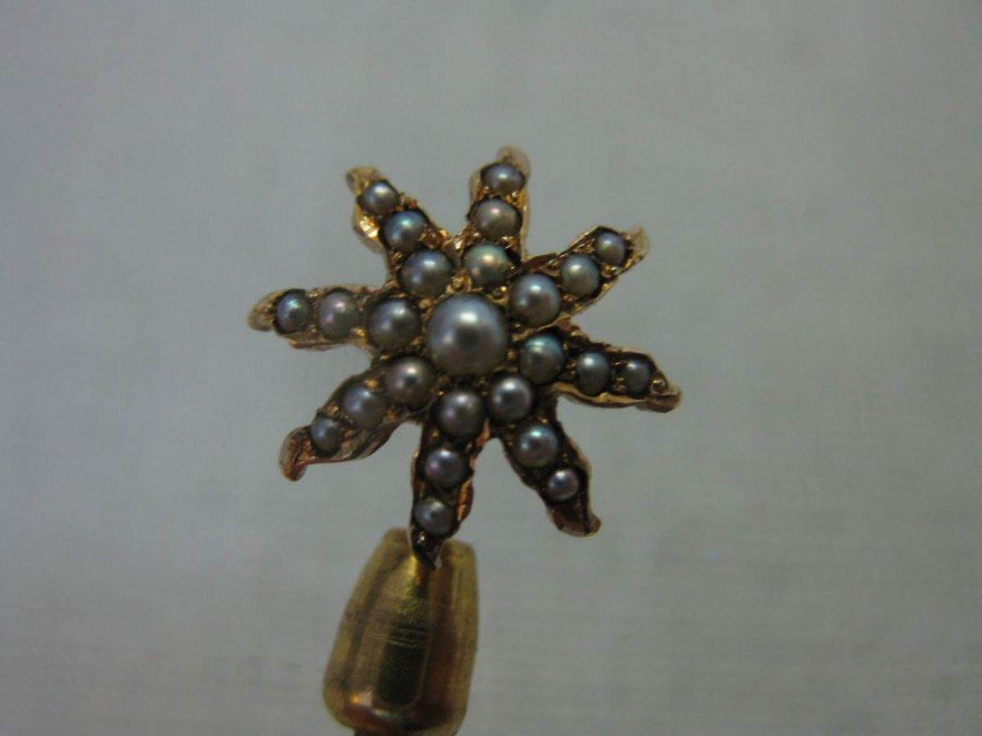 Five Gold Victorian Stick Pins - 5