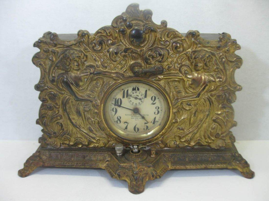 National Electric Clock Company Wind Up Alarm Clock