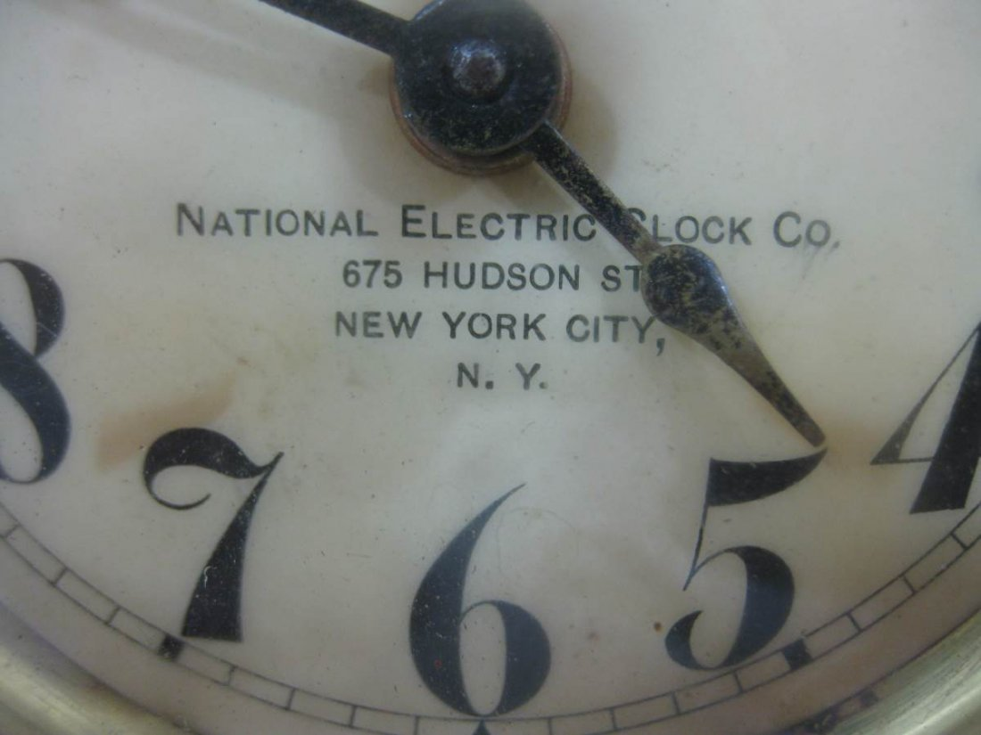 National Electric Clock Company Wind Up Alarm Clock - 3