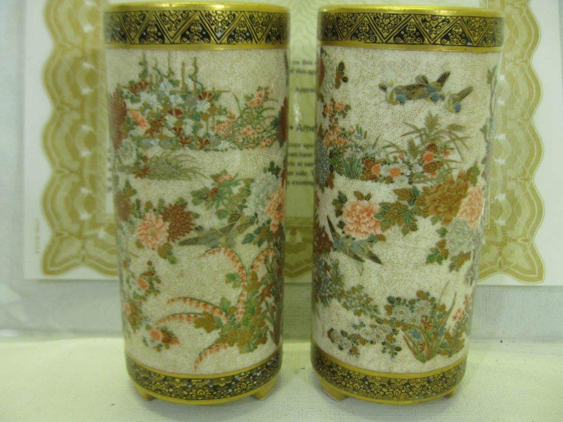 Pair of Royal Satsuma Meiji Period Signed Seikozan - 3