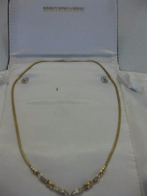 Bailey, Banks and Biddle 14kt Gold and Diamond Necklace