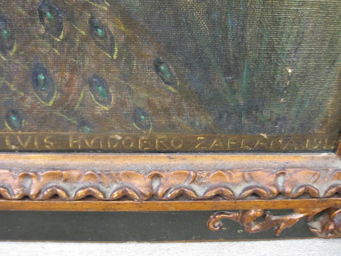 Los Toros Oil on Canvas CA 1913 Luis Huidobro Zaplana - 6