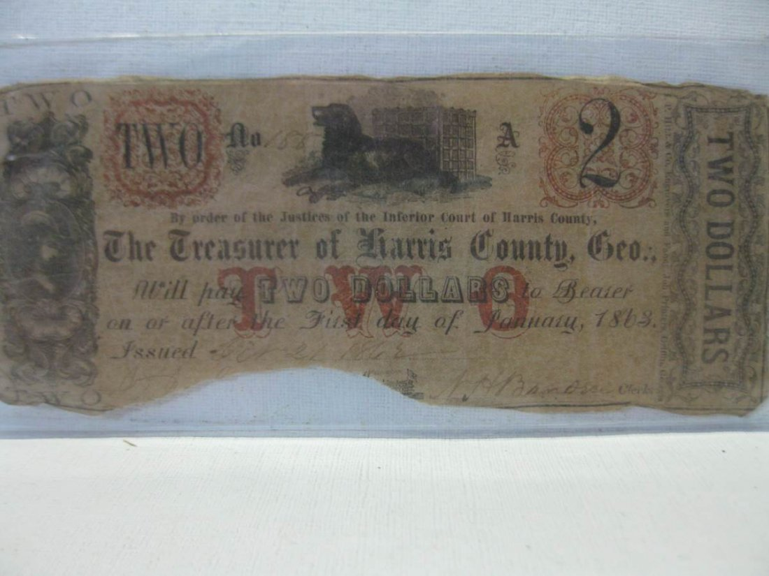 Rare Unlisted Harris County Georgia Confederate $2.00
