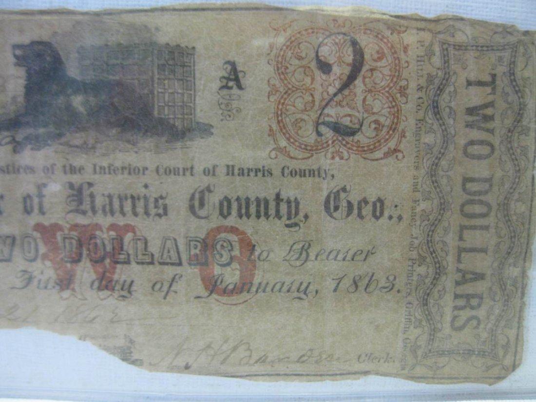Rare Unlisted Harris County Georgia Confederate $2.00 - 2