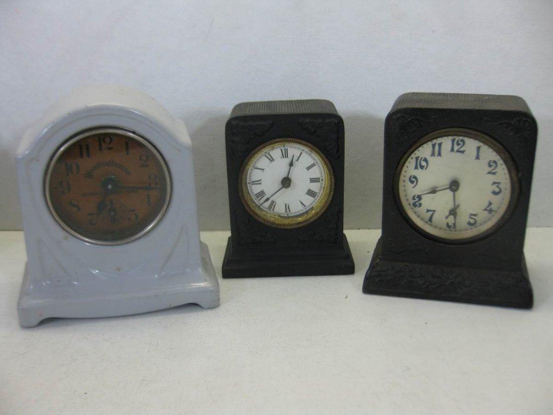 3 Cast Iron Clocks