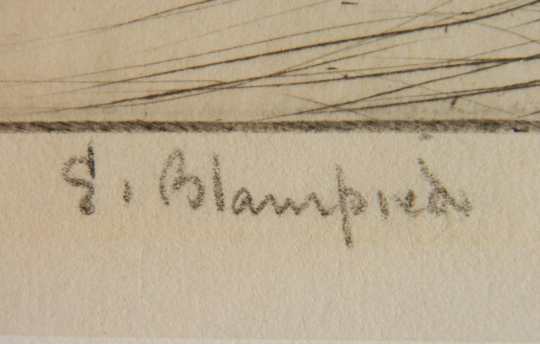 Edmund Blampied drypoint - 3