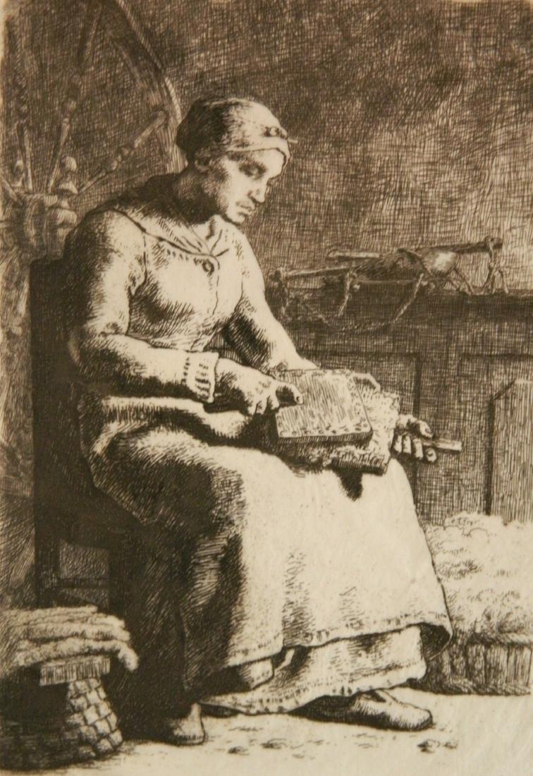 Jean Francois Millet etching