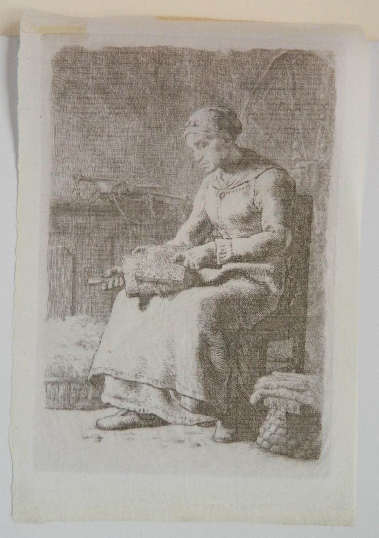 Jean Francois Millet etching - 3