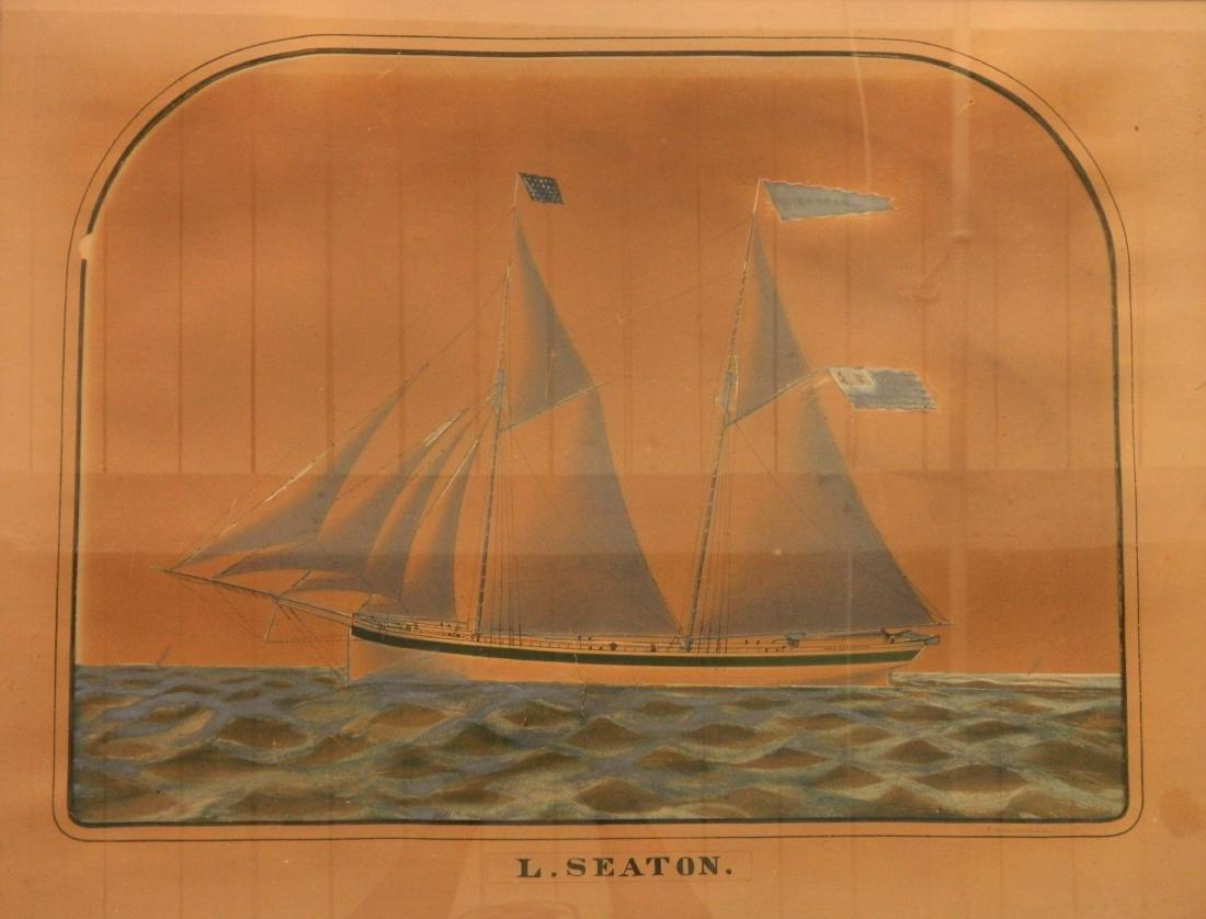 Charles W. Norton watercolor and graphite